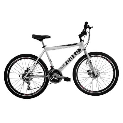 Bicicleta R26 18Vel Frenos Disco Blanco