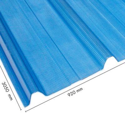 Teja Ecoroof 36 Alveolar 2mm Azul 0.92 x 3.05 Mts Policarbonato