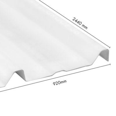 Teja Termoacustica Ecoroof  36 UPVC 2mm Blanco 0.92 x 2.44 Mts