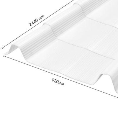 Teja Ecoroof 36 Alveolar 2mm Opal 0.92 x 2.44 Mts Policarbonato