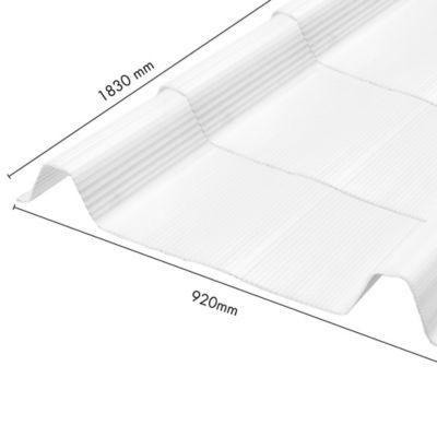 Teja Ecoroof 36 Alveolar 2mm Opal 0.92 x 1.83 Mts Policarbonato