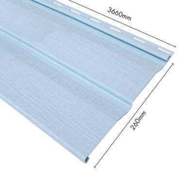 Revestimiento Vinyl Siding Prova 1 mm PVC Azul 0.26X3.66 Mts
