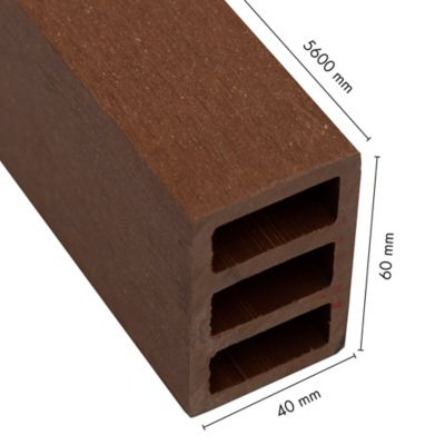 Madera Plastica WPC Ekowood H60-40  Nogal 0.04M x 0.06M x 5.60 Mts