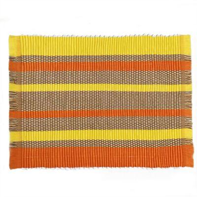 Individual Primavera Jaspeado Naranja Y Amarillo