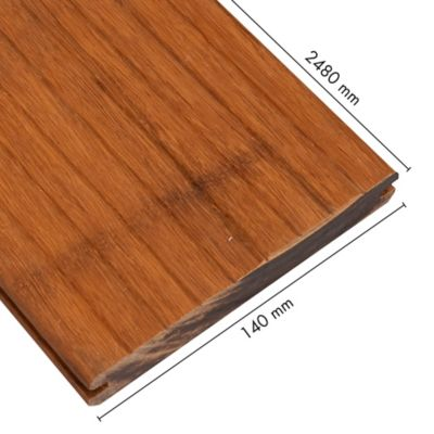 Piso Deck Bamboo Espesor 2.0mm Caja 0.35m2 Tostado Oil Bambu