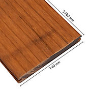 Resultado de imagen para Piso Deck Bamboo Espesor 2.0mm Caja 0.35m2 Tostado Oil Bambu Arkos