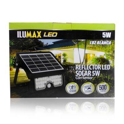 Reflector Led Solar con Sensor 5W Luz Blanca