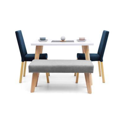 Comedor 4 Puestos Matiz 2 Viena Azul + Butaco Plata