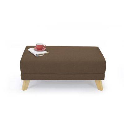 Puff Sion en Tela 95x54x38cm Chocolate
