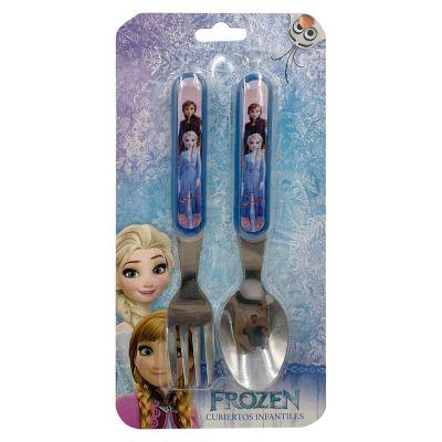 Cuchara Y Tenedor Acero Y Plástico Frozen 2
