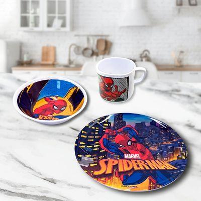 Vajilla 3 Piezas Melamina Spiderman