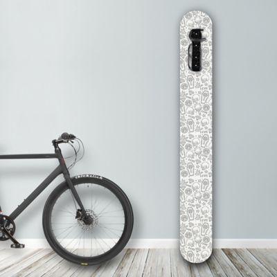 Soporte de Pared para Bicicleta Diseño Love+Peace+Dead