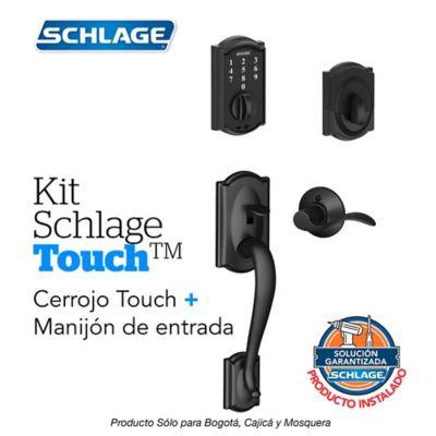 Kit Touch Camelot Negro + Manijón Izquierdo + Instalación
