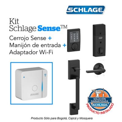 Kit Sense Century Negro + WiFi + Manijón + Instalación