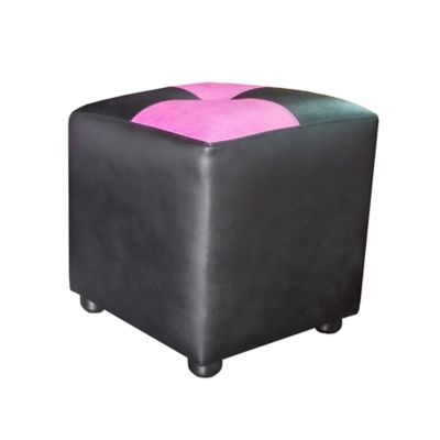 Puff Cubo 40x40x42 Ajedrezado Negro/Magenta