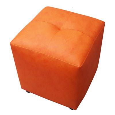 Puff Cubo 40x40x42 Mandarina