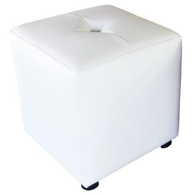 Puff Cubo 40x40x42 Blanco