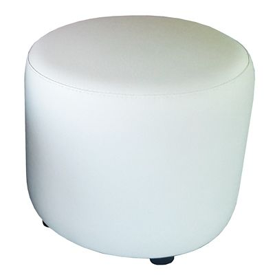 Puff Circular 40x40x42 Blanco
