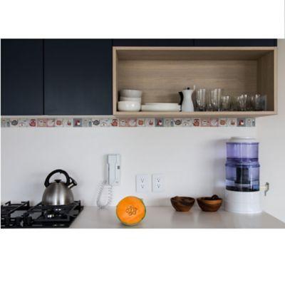 Cenefa Decorativa Adhesiva Kitchen (46x5.5cm) Paqx6und Cubrimiento 0,15m2 Y 2,76ml