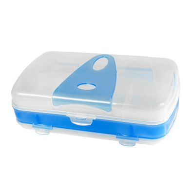 Organizador Plástico Wacky 3D Oval Azul