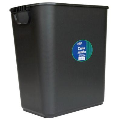 Cesto para Basura Plástico 24Lt Negro