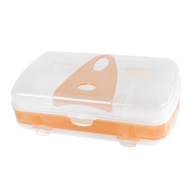 Organizador Plástico Wacky 3D Oval Naranja