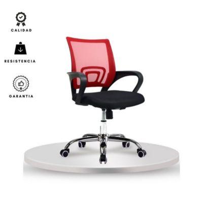 Silla Colors 50x56x99 Rojo/Negro