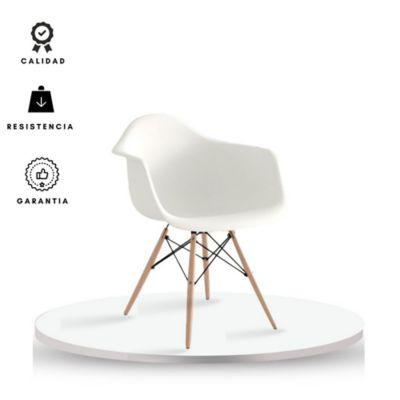 Silla Brazos Eames Adulto 58.5x62x80 Blanco