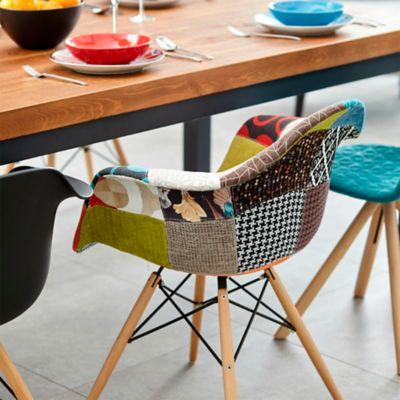 Silla Eames Tapizada 58.5x62x80 Multicolor