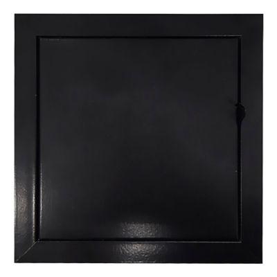 Tapa Regular Aluminio y Lámina Galvanizada Palanca 30X30 Negro