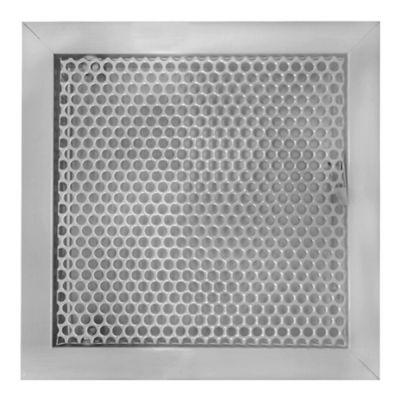 Tapa Regular Aluminio Perforada Palanca 30X30 Gris