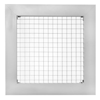 Rejilla Ventilación  Aluminio Tipo Cubo 25X25 Gris