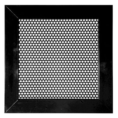 Rejilla Ventilación Aluminio Perforada Redonda 25X25 Negro
