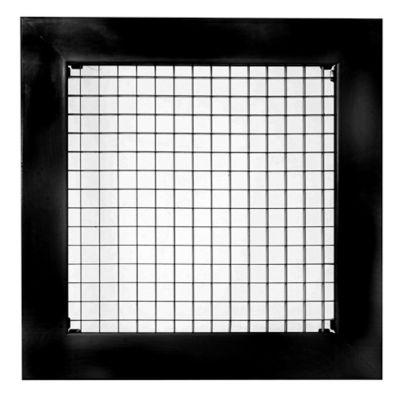 Rejilla Ventilación  Aluminio Tipo Cubo 25X25 Negro