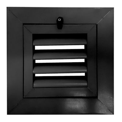 Rejilla Vent Aluminio Persi Aleta Fija 40X40 Negro