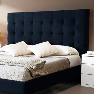 Combo Lujo Luxury Doble Colchón + Espaldar Azul