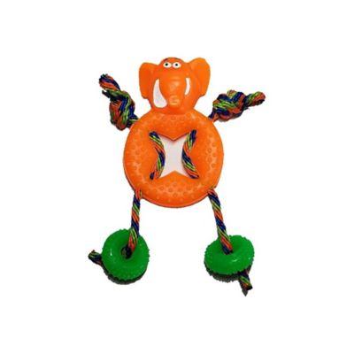 Elefante en Goma Color Naranja