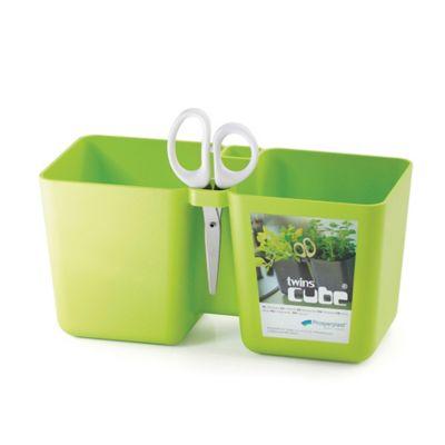 Jardinera Cocina 24x11x12cm + Tijeras Verde