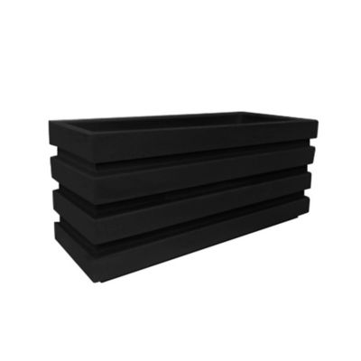 Jardinera de Polietileno 100 x 35 x 45 cm Negro