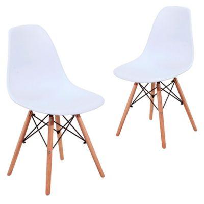 Set x2 Silla Eames Blanca