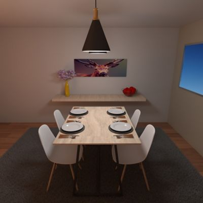 Mesa Comedor Natural 120x90x75cm Roma