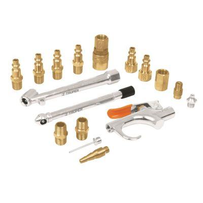 Kit de 17 Accesorios Neumáticos para Inflar y Calibrar