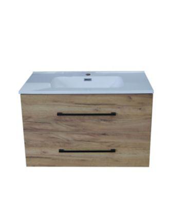 Mueble De Baño Roble 80x46x52 cm Incluye lavamanos