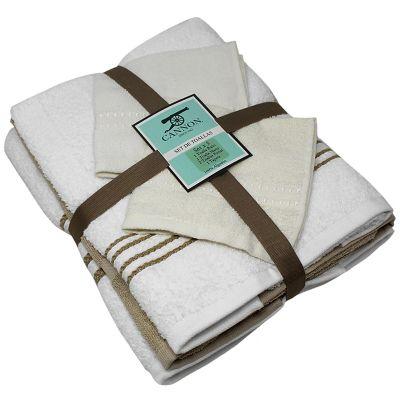 Set x5 Familiar Toallas 1 Cuerpo 70x127 cm + 1 Manos 41x71 cm + 2 toallas Faciales 30x30 + Tapete de baño 50x50 cm