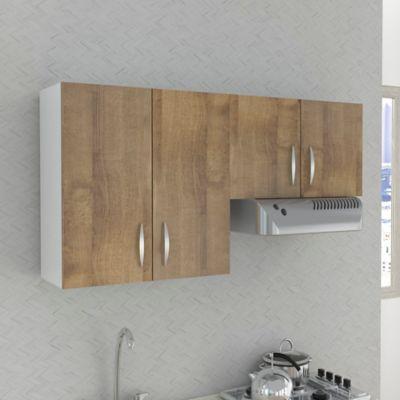 Mueble Superior Mykonos 4 Puertas Con Locero 60cm Alto x 150cm Ancho x 30cm Fondo Amare Blanco