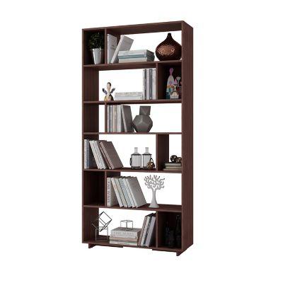 Biblioteca 6 Niveles 90x29x187 Castaño