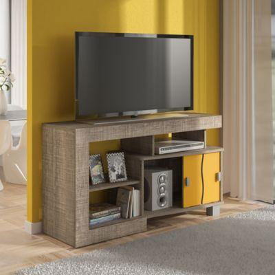 Mesa para TV Senna Canela con Amarillo