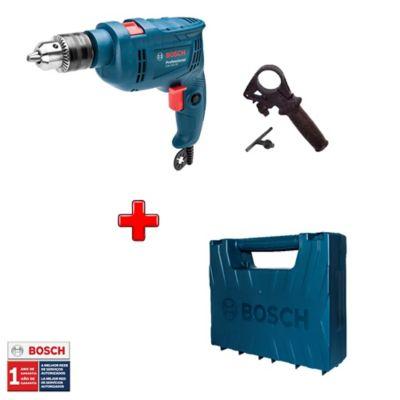 Kit Taladro Percutor 1/2-pulg 550W + Maletín Plástico Bosch