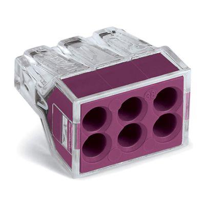 Conector Eléctrico Resorte 6p Punto Test Violetax50