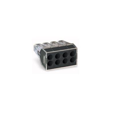 Conector Eléctrico Resorte 8 Polos Punto Test Grix50
